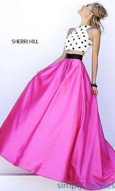 Floor Length Two Piece Gown by Sherri Hill at SimplyDresses.com