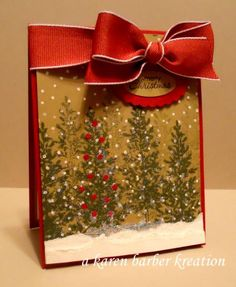 WONDERFUL WINTERY WISHES by Karen B Barber - Cards and Paper Crafts at Splitcoaststampers