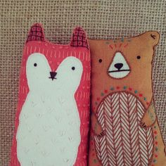 DIY Doll Kits: Fox & Bear - Kiriki Press.