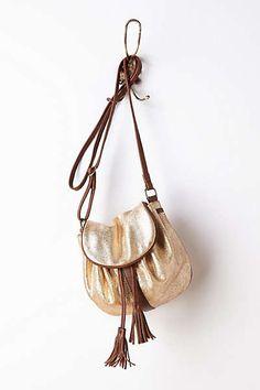Anthropologie - Tasseled Metallic Crossbody Bag