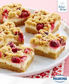 Cookies are out, and Apple Cranberry Crumb Bars are in. This year, leave a treat for Santa that's a little more special and a whole lot sweeter.