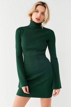 Urban Outfitters UO Turtleneck Bell-Sleeve Sweater Dress~CLICK TO BUY~