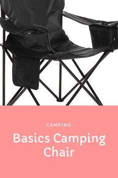 Basics Camping Chair for Camping Outdoor Chairs, Outdoor Furniture, Outdoor Decor, Camping Chair, Butterfly Chair, Outdoors, Sports, Hs Sports, Garden Chairs