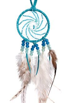 Turquoise Beaded Dream Catcher From Tribal Impressions