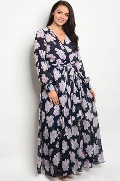 Plus Chiffon Maxi Dress