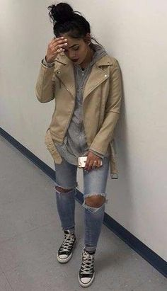 Best Street Style Outfits To Try This Fall 2019 Chill Outfits, Trendy Outfits, Cute Outfits, Fashion Outfits, Fashion Killa, Look Fashion, Fall Fashion, Fall Winter Outfits, Autumn Winter Fashion