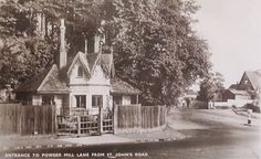 St John's Road junction with Powder Mill Lane c1930.