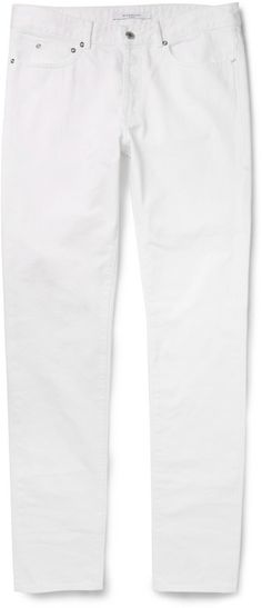 $720, Givenchy Slim Fit Dry Denim Jeans. Sold by MR PORTER. Click for more info: https://lookastic.com/men/shop_items/208133/redirect