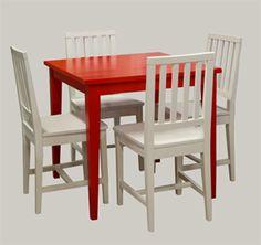 Neliöruokapöytä 80x80, puuvalmis - maalaa itse tai maalauta meillä vaikka punaiseksi