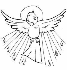 Palomas del Espiritu Santo para colorear - Imagui