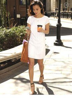 Chic summer white dress
