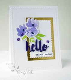 Love these flowers! Playing with purple and Watercolored Anemones from W plus 9. by Cindy Beach stampspaperandink.typepad.com