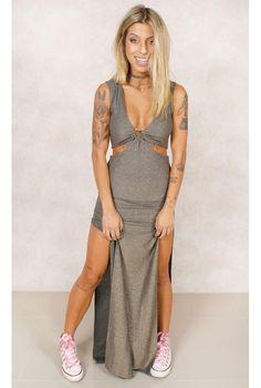 Vestido Sol Lurex Dourado Fashion Closet - fashioncloset