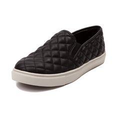 Shop for Womens Steve Madden Ecentric Casual .The Steve Madden Ecentric is a stylish deviation from the norm. This edgy casual sneaker features a quilted synthetic leather upper, midfoot goring for easy slip-on, padded collar, and low profile rubber sole with wavy tread.For $59.99