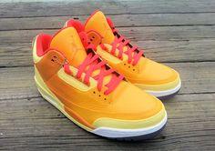 Air Jordan 3 'SUNBURN' Custom Sneakers                                                                                     Ⓙ_⍣∙₩ѧŁҝ!₦ǥ∙⍣