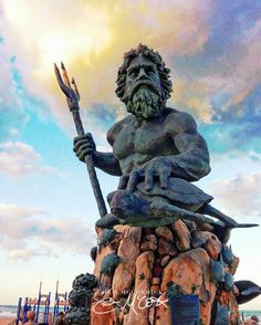 """Colorized Neptune"" King Neptune Virginia Beach Oceanfront VA by Chris McCormick 8""x10"" - $20 11""x14"" - $40 16""x20"" - $60 Small Magnet (Set of 2) - $7"