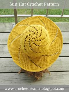 Crochet Pattern for Woman's Sun Hat