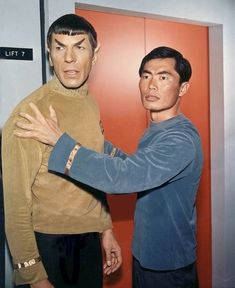 "thecaptainoutoftime: ""trekcore: ""Spock and Sulu from ""Where No Man Has Gone Before"" """
