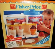 Fisher-Price Fun With Food McDonald's Soda Fountain ( Jouets Fisher Price, Fisher Price Toys, Vintage Fisher Price, 90s Childhood, Childhood Memories, Retro Advertising, Soda Fountain, 80s Kids, Dramatic Play