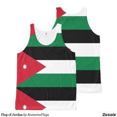 Flag of Jordan All-Over Print Tank Top