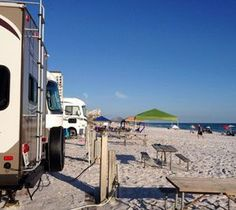 Beach Front Site View of the Gulf  RV camping on the beach, Destin Florida