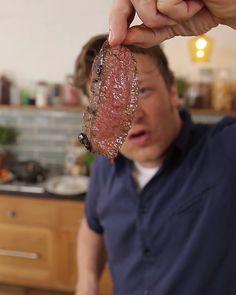 Chef Recipes, Cookbook Recipes, Grilling Recipes, Food Network Recipes, Cooking Recipes, Recipies, Jamie Oliver Kitchen, Jaime Oliver, Perfect Steak