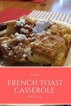 I wanted to share a French Toast Casserole recipe that my family had for breakfast! It's COMPLETELY easy and TOTALLY delicious!  :)  This is the prefect recipe for that Saturday or Sunday morning when…