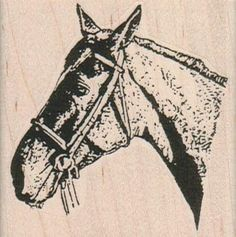 New to pinkflamingo61 on Etsy: Horse head wood mounted rubber stamp Stamp   Rubber Stamp  10174  cowboy (9.00 USD)