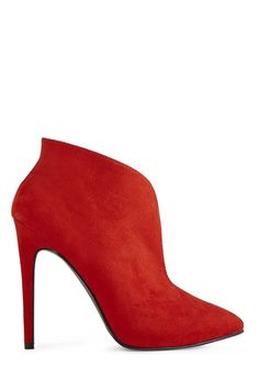 Belinda red bootie