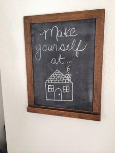 Home chalkboard idea