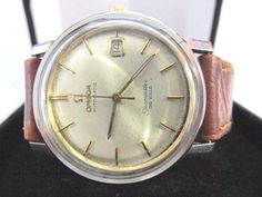 Vintage 1966 Omega Seamaster Date Stainless c565 Automatic Men's Watch 35mm #Omega #LuxuryDressStyles