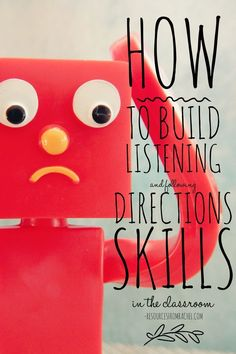 Promote listening and following directions in your K-8 classroom through practice.