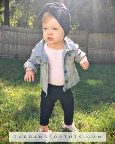 Black baby turban hat size newborn to 3t