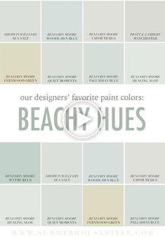 House Beach Interior Coastal Cottage Paint Colors For 2019 Ho. - House Beach Interior Coastal Cottage Paint Colors For 2019 House Beach Interior - Cottage Paint Colors, Coastal Paint Colors, Kitchen Paint Colors, Exterior Paint Colors, Exterior House Colors, Paint Colors For Home, Paint Colours, Beach Cottage Style, Beach Cottage Decor