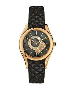 4faf31ece9e5 Ferragamo - Ladies Lirica Watch with Textured Leather Strap