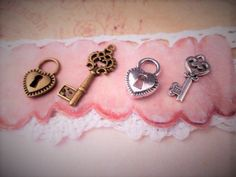 Matching Lock & Key Charms  ADD ON Jewelry for by ILoveItandMore