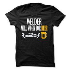 Welder LOVE Beer shirt T SHIRT