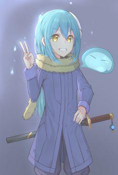 That Time I Got Reincarnated as a Slime Ken Anime, Kawaii Anime, Anime Art, Slime Wallpaper, Blue Hair Anime Boy, Otaku, Another Anime, Beautiful Anime Girl, Pokemon