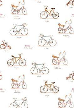 Heather Ross, Munki Munki, Bikes I Have Loved, 1 Leg Panel. $12.00, via Etsy.