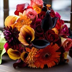 This bouquet is one of a kind! Colorful and playful!