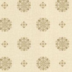 Brewster Wallpaper 302-66828 Vintage Gold Floral Medallion