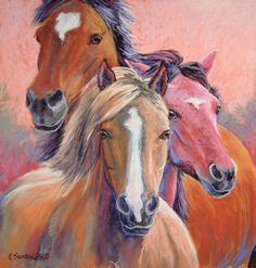 Horse Paintings and Horse Art Equine Artist in Pastel by Carol Santora Sand Art, Animals Artwork, Pastel Art, Animal Art, Native American Art, Southwest Art, Horse Painting, Pastel Painting, Art