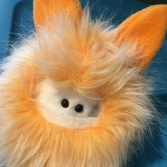 Tadpole and I are ready for the maker show tomorrow. Some Fuzzlings are available in my shop waiting to be adopted and more will be added in the next few days.   This orange faux fur is super fun! Do you want a custom Fuzzling in orange? Convo me.