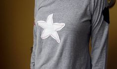 T Shirts  L Woman's Long Sleeved  Cotton Tee by EcoShantyBoutique
