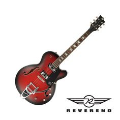 Reverend Pete Anderson Signature PA-1 RT Hollow Body Guitar - Satin Red Burst with Case
