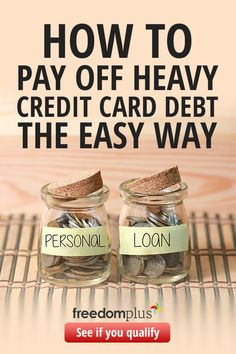 Pay off your credit card debt with a personal loan. You could save thousands on your interest with lower, fixed monthly payments that fit your budget. Fixed rate APR as low as (terms apply). Start by answering a few questions to see if you qualify. Budgeting Finances, Budgeting Tips, Money Tips, Money Saving Tips, Saving Ideas, Money Budget, Financial Organization, Budget Organization, Paying Off Credit Cards