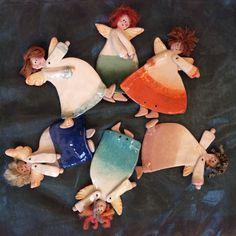 Angeli in ceramica da appendere