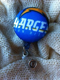 San Diego Football Fan Badge Reel Employee ID by ButtonsAFluttur, $6.50