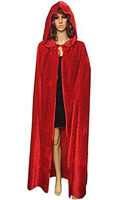 Introducing Unisex Adult Women Men Velvet Long Hooded Cloak Tippet Cape Halloween Christmas Theater Party Role Cosplay Costume Wedding Shawl Coat Decoration Red. Great Product and follow us to get more updates!