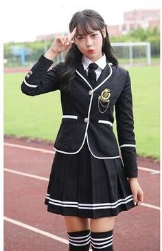 a60828da2bb89 Evalent Japanese Anime Clothes Classic Navy Sailor Suit Short Sleeve Girl  Students School Uniforms White (XL, Black)